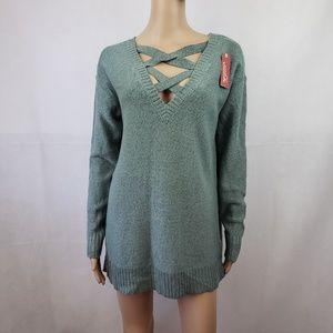 Arizona Jean Green Long Sleeve Sweater Size M